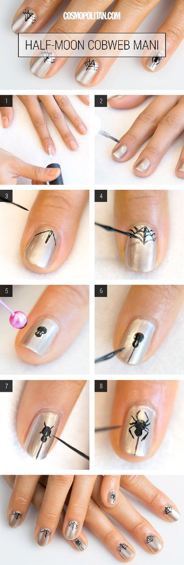 Halloween Nail Art Tutorial I #nails #nailpolish #polish #howto #tutorial #beauty #halloween #nailart www.pampadour.com
