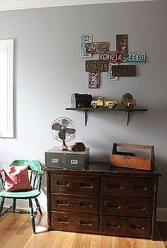 Shelving with memory items on it
