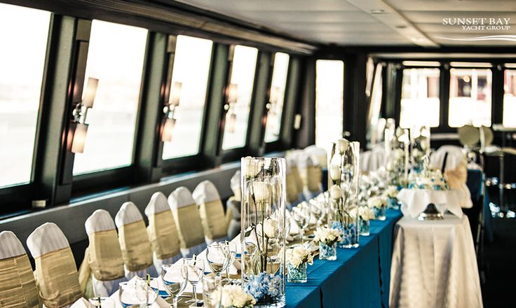 Everything in its place. Our amazing event coordinators help make sure every detail of your wedding is polished to perfection.  #vancouverwedding #vancouverevents | The Wedding Yacht
