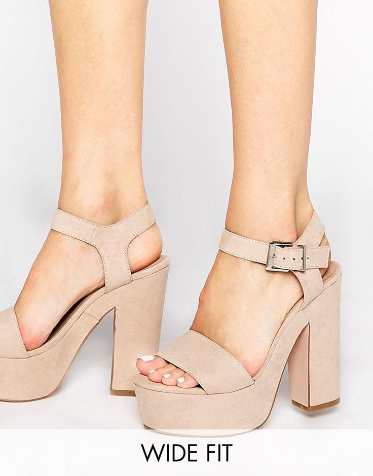 Image 1 ofASOS HIGHLIGHT Wide Fit Heeled Sandals