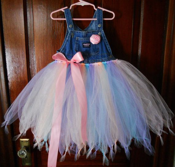 Overalls Tutu Dress Size 1-3 Ready To Ship by craftybeever on Etsy