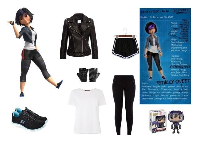 go go tomago by mayleneholm on Polyvore featuring MaxMara, Anine Bing, WithChic, New Look, Skechers and Disney