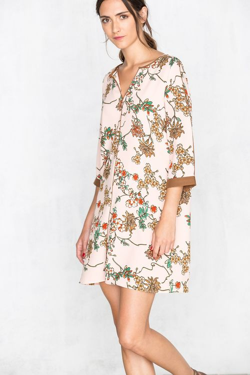 Oriental-Print Tunic Dress | Women's Dresses Cortefiel