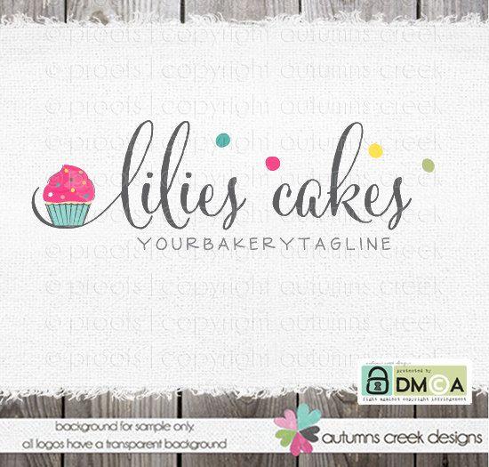 cupcake logo  bakery logo  premade logo cake by autumnscreek