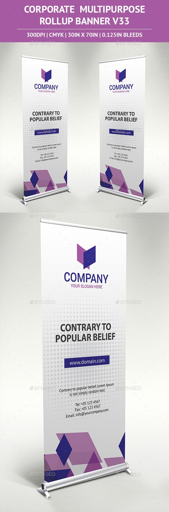 Rollup Banner Vector Template AI Illustrator #design Download: http://graphicriver.net/item/rollup-banner-vol33/13862517?ref=ksioks