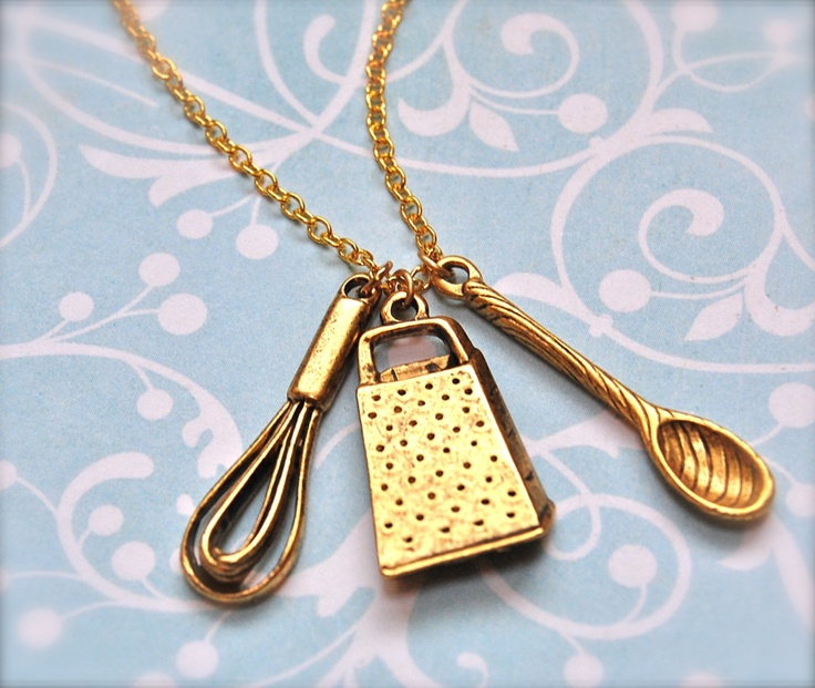 :): Cooking Necklace, Gift, Jewelry, Cooking Utensils, Necklaces, Baking Necklace, Chief