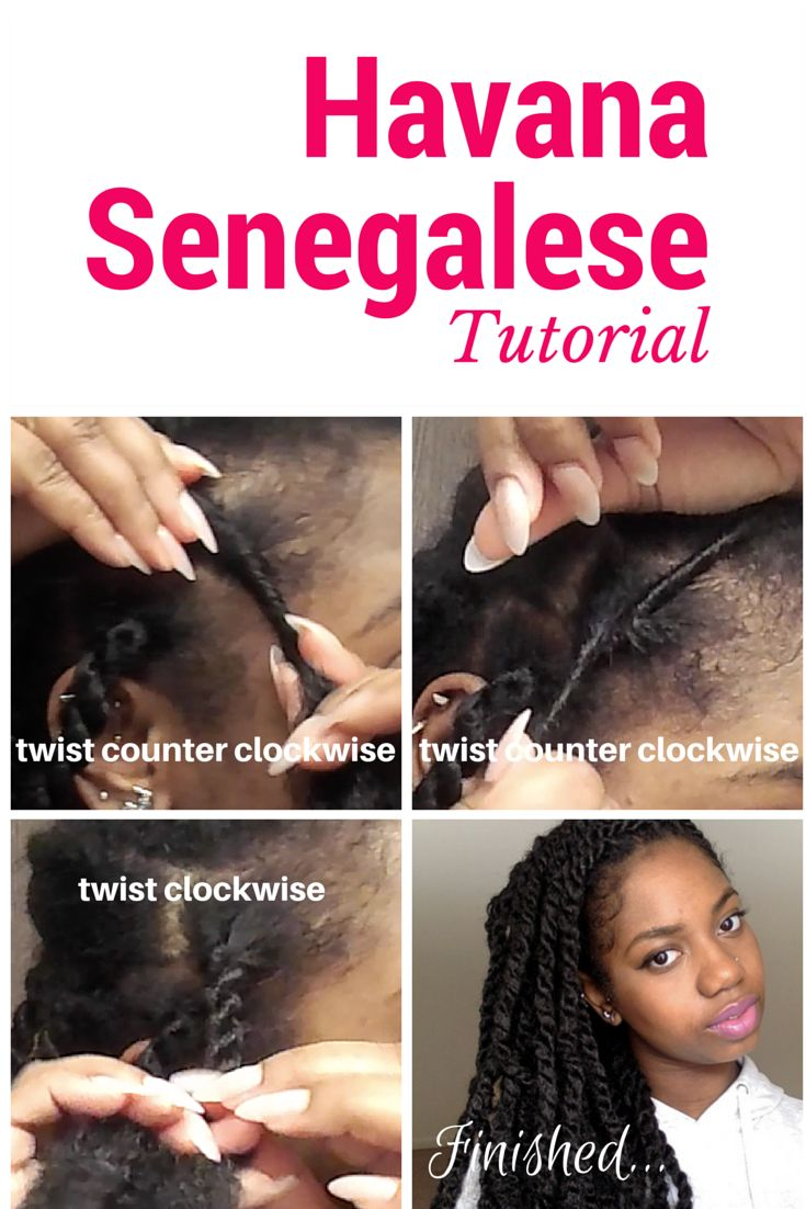 Havana Senegalese Twist Tutorial with Marley Hair. Watch the full video here https://www.youtube.com/watch?v=Tx04m_X_V-A