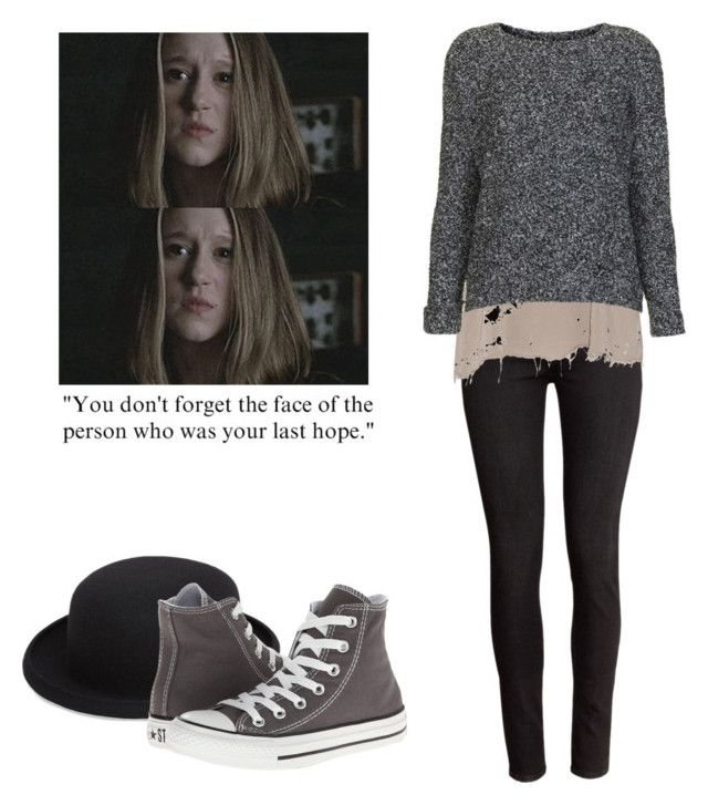 Violet Harmon - ahs / american horror story by shadyannon on Polyvore featuring polyvore fashion style Topshop Raquel Allegra H&M Converse Comme des Garçons clothing