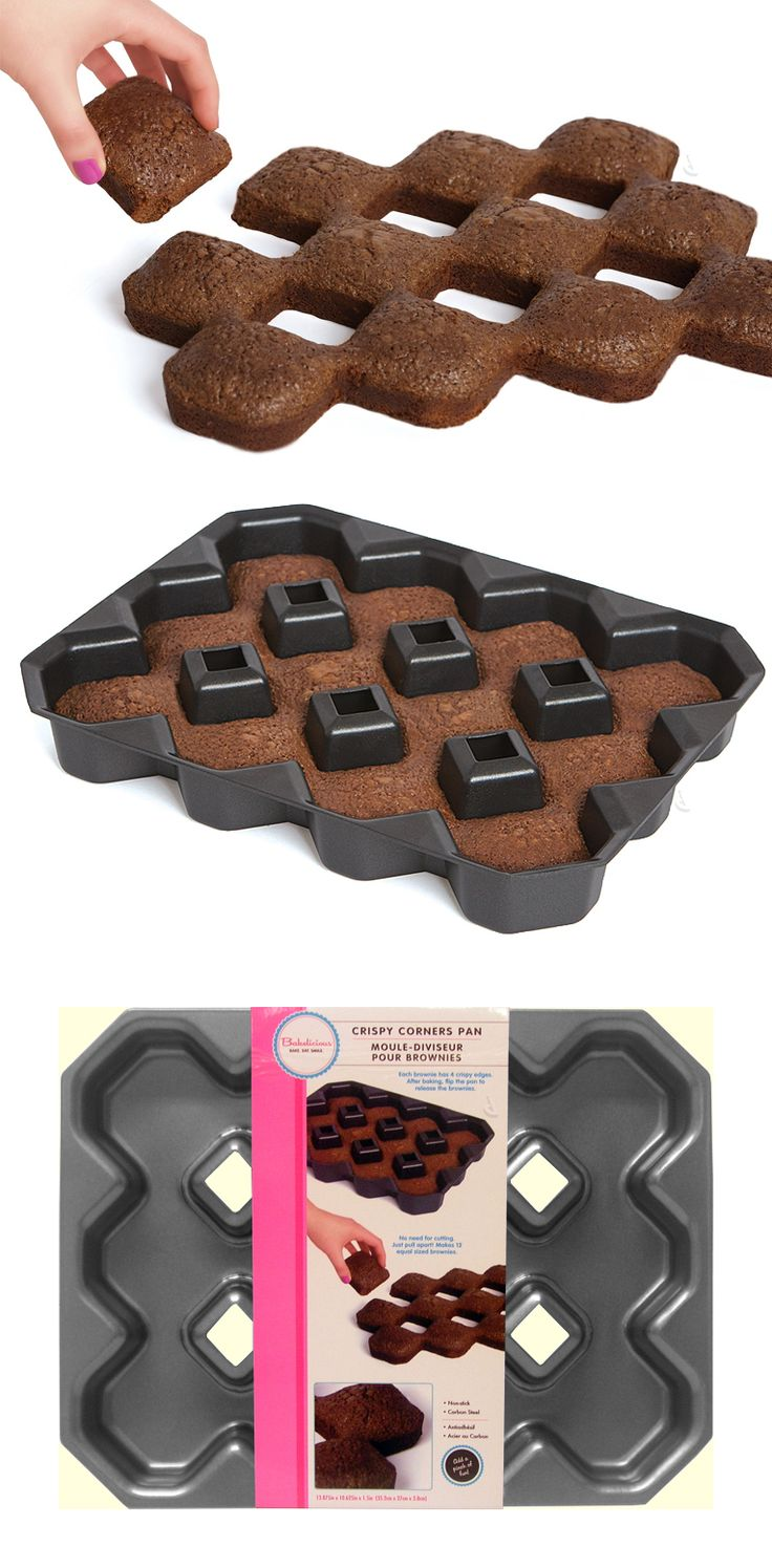 Crispy corner brownie pan // a baking tray for the best crunchy edges! #product_design