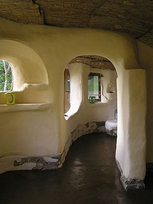 Cob house earthen floor