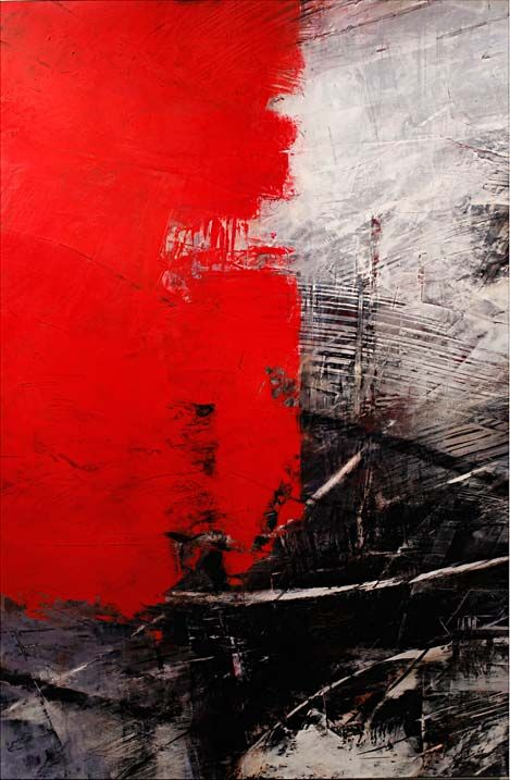 Ivo Stoyanov fresh #artiste que l'on aime www.lesgaleriesdart.com #art #contemporain & new media //   Composition rouge noir blanc