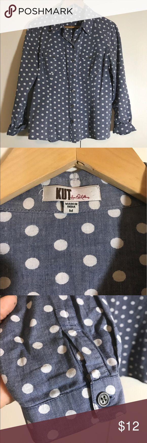 Kut polka dot shirt Pre loved kut Tops Sweatshirts & Hoodies
