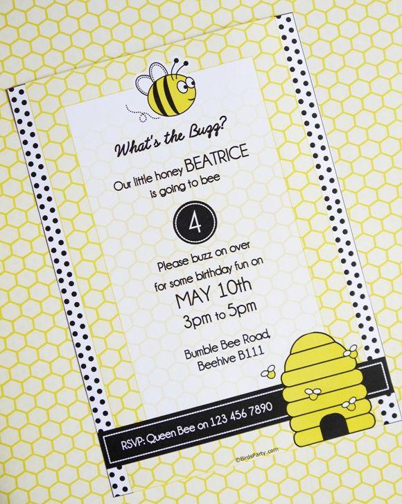 Bee Themed Birthday Party Ideas