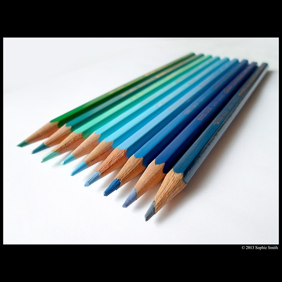 Caran D'Ache Colored Pencils In Different Shades Of Blue And Green - Swiss Made  #colored #pencils #different #shades #blue #green #caran #dache #pincel #brush #drawing #artist #turquoise #wood #sophie #smith #new #york #long #island #still #life #graphite #lead #ore #plumbago #bleistif #peann #luaidhe #galam #rasas #sulphur #antimony #swiss #made #manelux6 #publish #published #work #featured #image #feature #picture #photograph