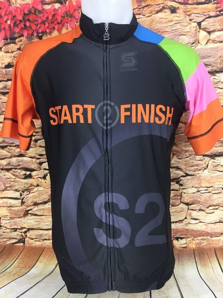 Squadra Mens Bike Race Start 2 Finish Mens Pro Issue Cycling Jersey Size XL #Squadra