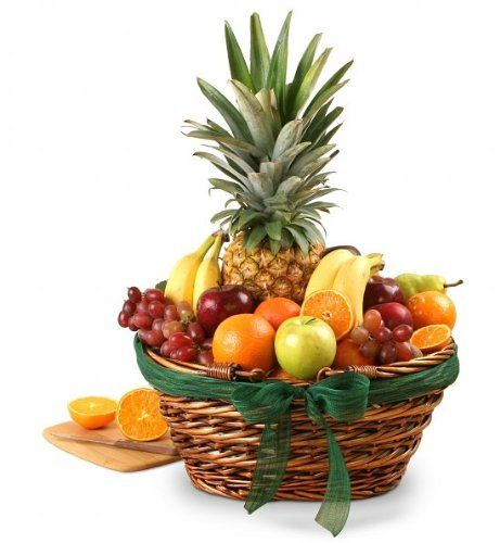 Tropical Treasures Fruit Basket   Corporate Gift or Birthday Gift Idea $79.95
