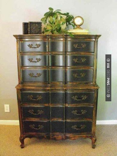 so cool black highboy check out more dresser ideas at decopinscom - Highboy Dresser