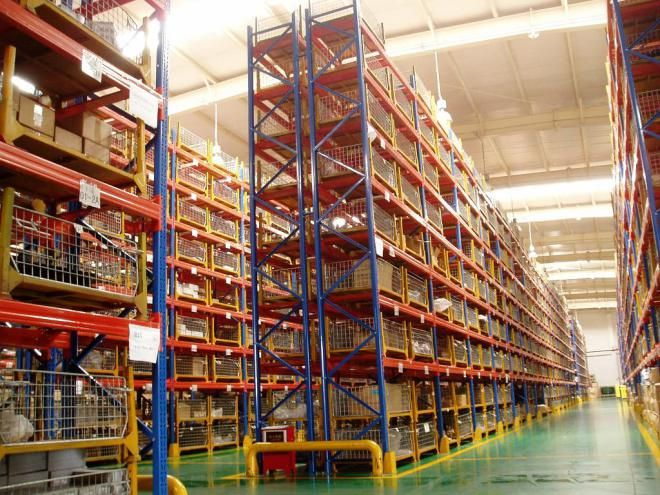 #Warehouse_Racks, Racks and shelves are the most prominent and widely used racks and shelves that are known for providing storage solution to even the most sturdy and heavy machines.Warehouse is a place in which extra supplies and extra commodities are stored.Huge industries, factories always have a warehouse. It is not an option, but a must have space in the factory.