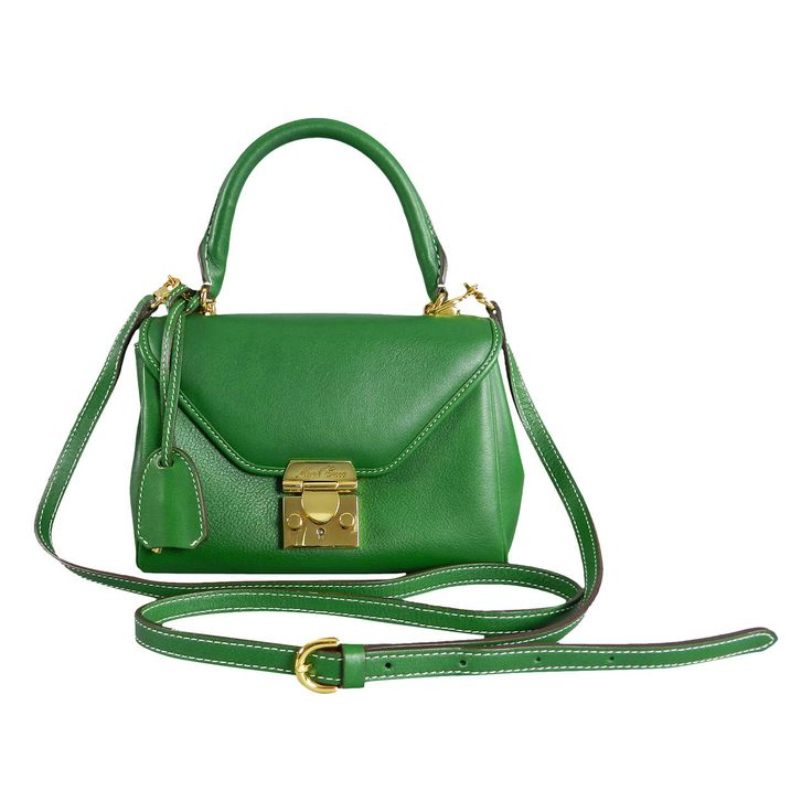 Mark Cross Green Scottie Mini Crossbody Bag / Purse