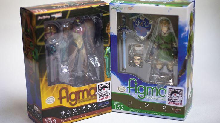 2 φιγούρες Zelda και Metroid