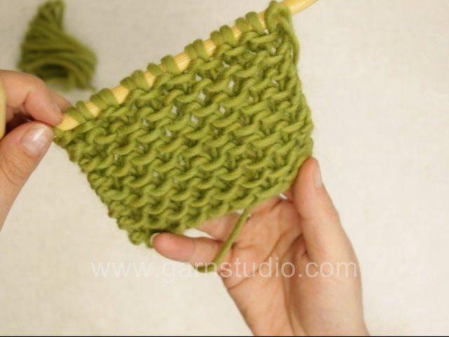 Honeycomb Knitting Stitch How To : DROPS Knitting Tutorial: How to knit Honeycomb with slip stitches Pleteme -...