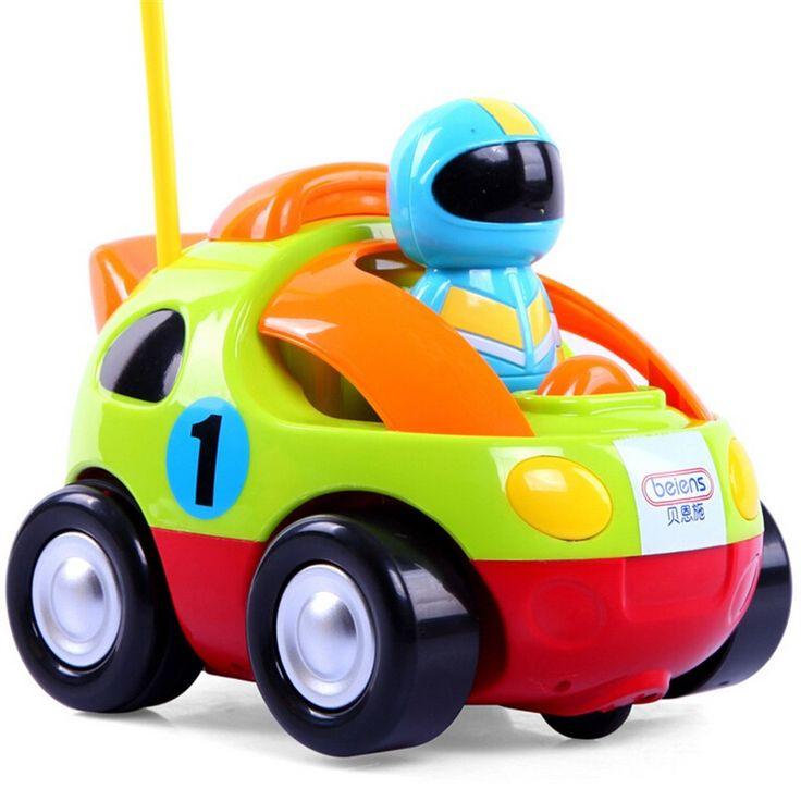 1 Set Remote Control Race Car Baby Toys Music Automotive Authentic Children's Cartoon Radio Control Cars 4 Styles
