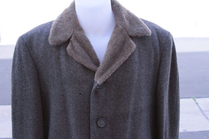 Vintage McGregor Mens Car Coat Overcoat Snow-Woods Paca Heavy 42 Made in USA #McGregor #Trench