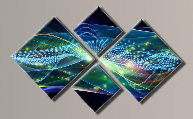 Картина модульная (98х157 см.) - Абстракция горизонт, Арт. HAF-030