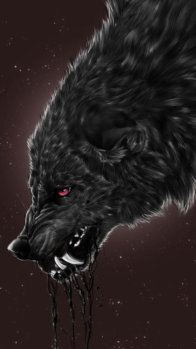 Black Wolf Wallpaper Fantasy Wolf Werewolf Black Wolf