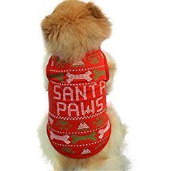 Christmas Puppy Clothes,Neartime Doggy Outfits Cute T Shirt Doggie Shirts for Yorkie (XS)