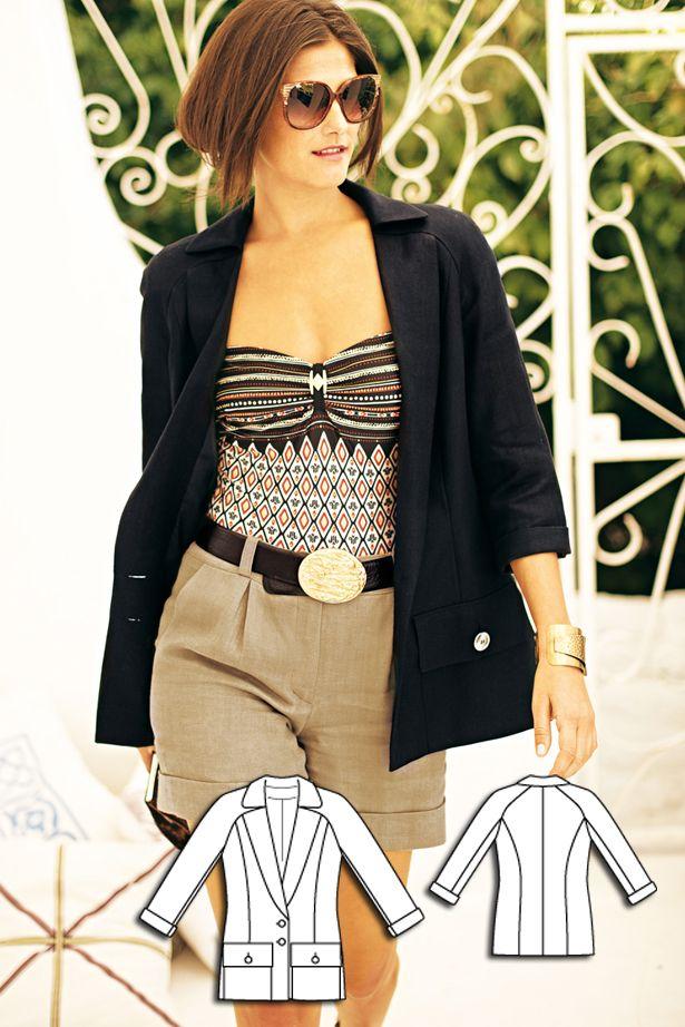 Linen Blazer 06/2010 #burdastyle #sewingpattern #sewing #diy
