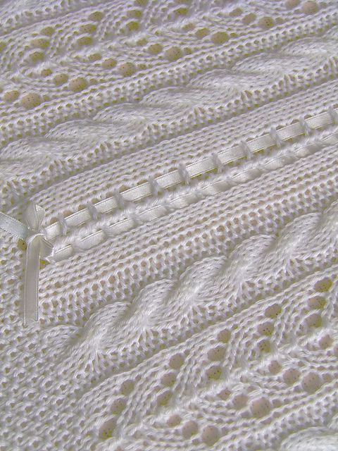Ravelry: Lace and Cable Blanket - P053 pattern by OGE Knitwear Designs