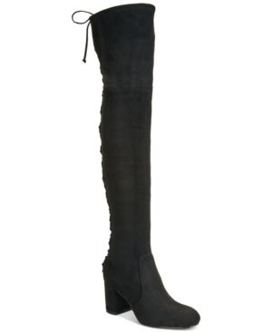 Charles by Charles David Ollie Stretch Over-The-Knee Boots - Black 8.5M