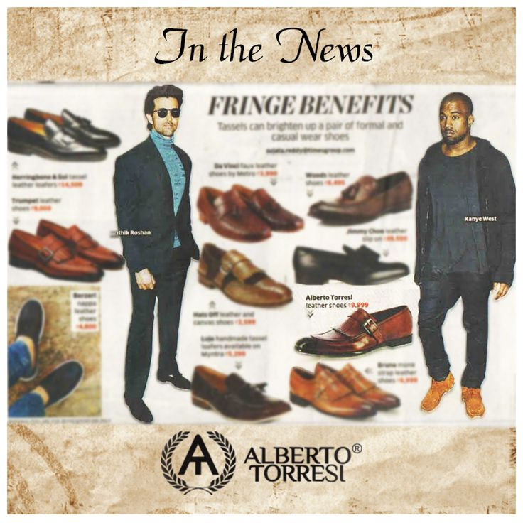 Many thanks to the ECONOMIC TIMES PANACHE for this amazing mention yesterday! You can buy our suave brown tassled loafers at our website www.albertotorresi.com  #inthenews #hotoffthepress #albertotorresi #alberto #albertotorresishoes #newsyoucanuse #shoesyoucanuse #formal #formalshoes #mensshoes #tan #brown #tassle #leather #exclusive #handsome #shoeenvy #shoeinspo #today #midweek #Wednesday #shop #shopping #shoponline