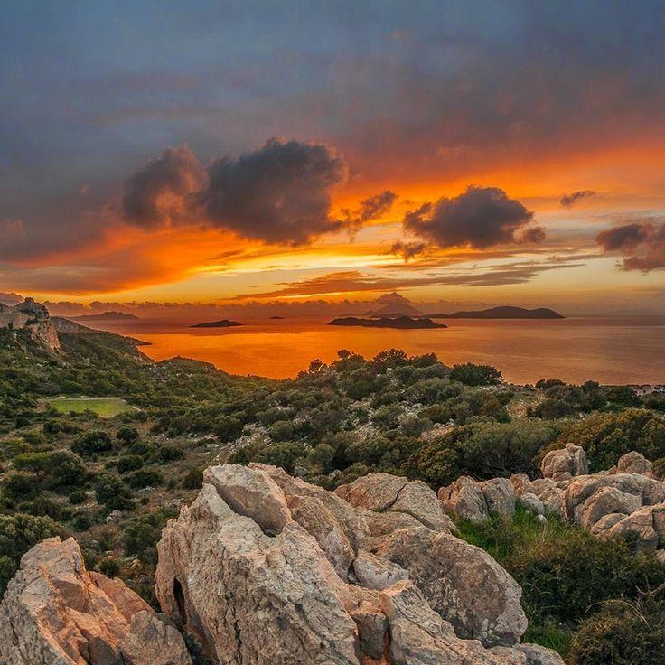 kritinia castle rodos island geece landscape photography