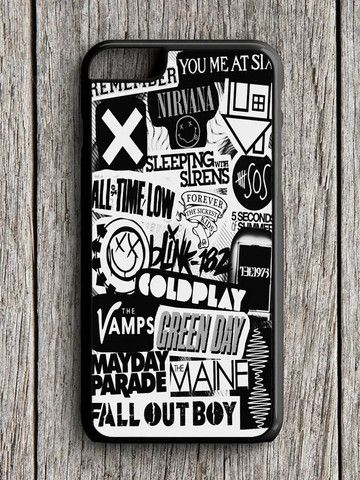 5sos Coldplay Fall Out Boy The Vamps 1975 iPhone 6 Case