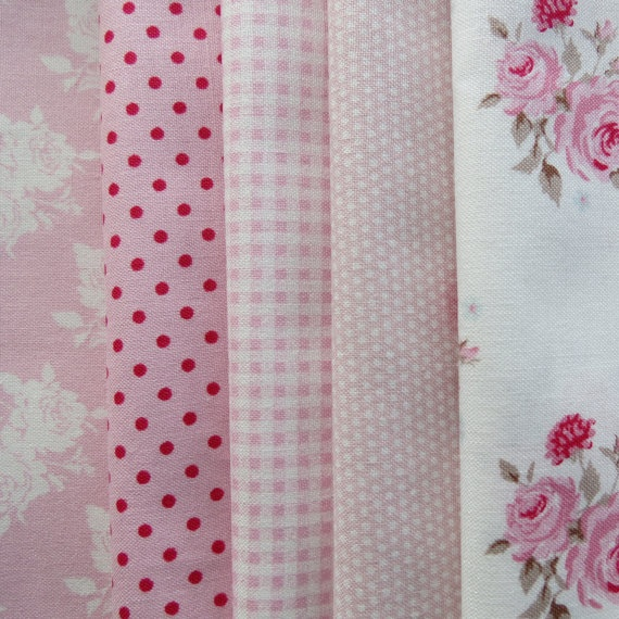 Pretty Tilda Fabric Bundle - PINKS
