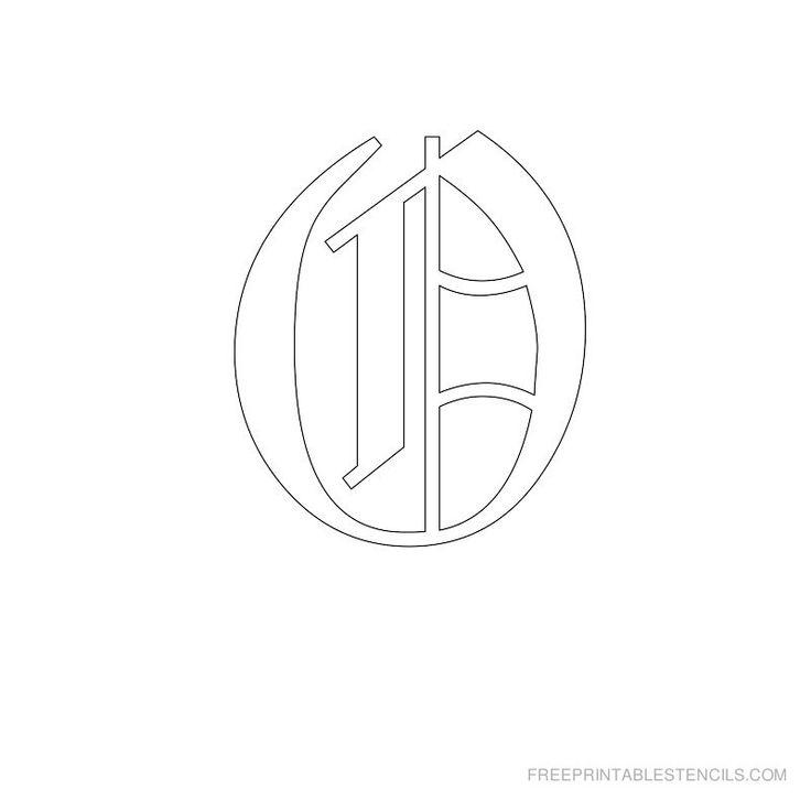 Printable Old English Alphabet Stencil O