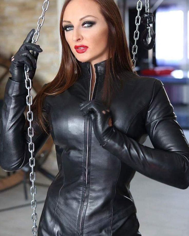 Woman In Leather Coat Fetish Domination
