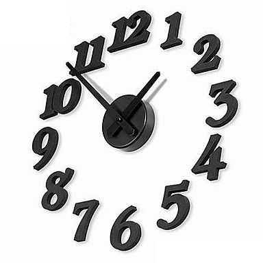 "12""+DIY+Numbers+Analog+Fashion+Wall+Clock+(Black,+1xAA)+-+USD+$+18.70"
