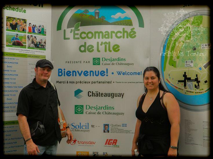 Artiste les Tordus S.E.N.C. visit L'écomarché de l'île (Chateauguay Qc CANADA)