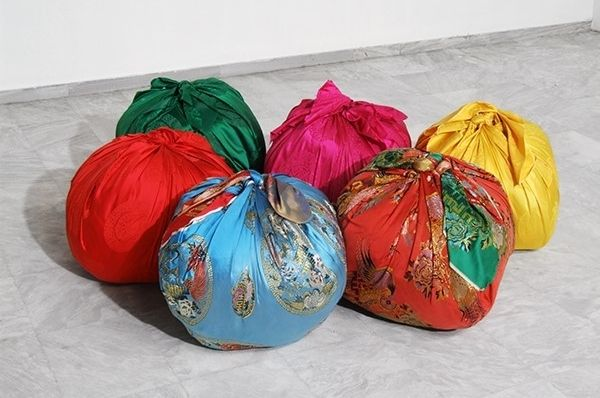Bottari, 2005 - 2017, Site-Specific Installation, Used Clothes from Athens & Kassel, Korean Bedcovers, Collection of EMST, Athens, Courtesy of Kimsooja Studio at Documenta 14