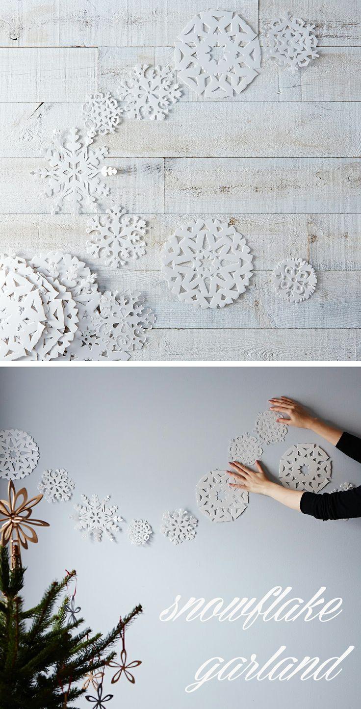 Snowflake Garland #holiday #christmas #garland #decorate #winter