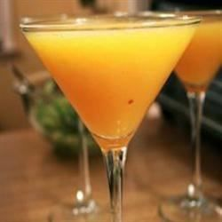 Wallaby-Darned. This peachy, frozen delight is made from peach schnapps, vodka, and champagne.