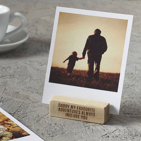 A stunning handmade personalised Fathers Day photo block. Perfect for dad to display precious memories and moments in his office, shed, study or man cave!  High quality and build to last, our wonderful personalised Fathers day photo blocks are a beautiful way to display your most precious memories and moments around your home or office.  Personalise your Fathers Day photo block with a special message for dad. A funny joke, your favourite memory together or a simple happy fathers day message…