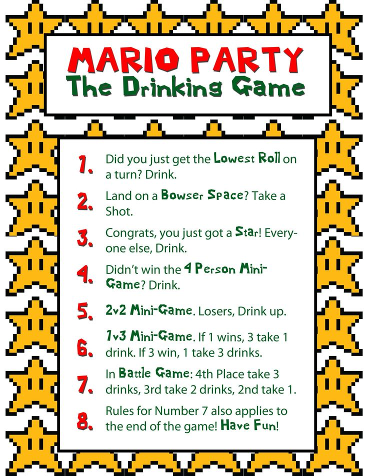 Mario Party Trinkspiel