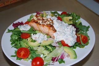 God mat og drikke: Sunn salat med laks og yoghurtdressing