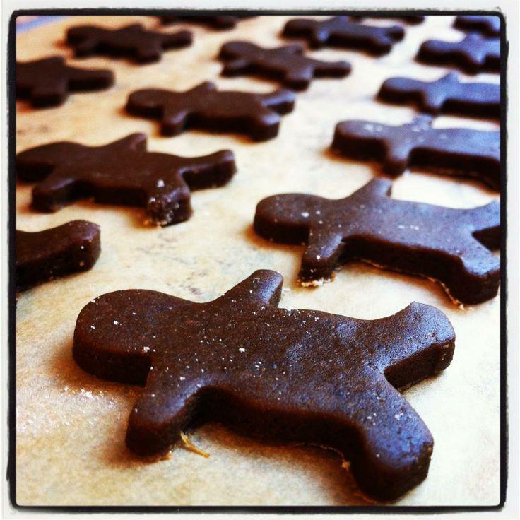 chocolate ginger boy cookies