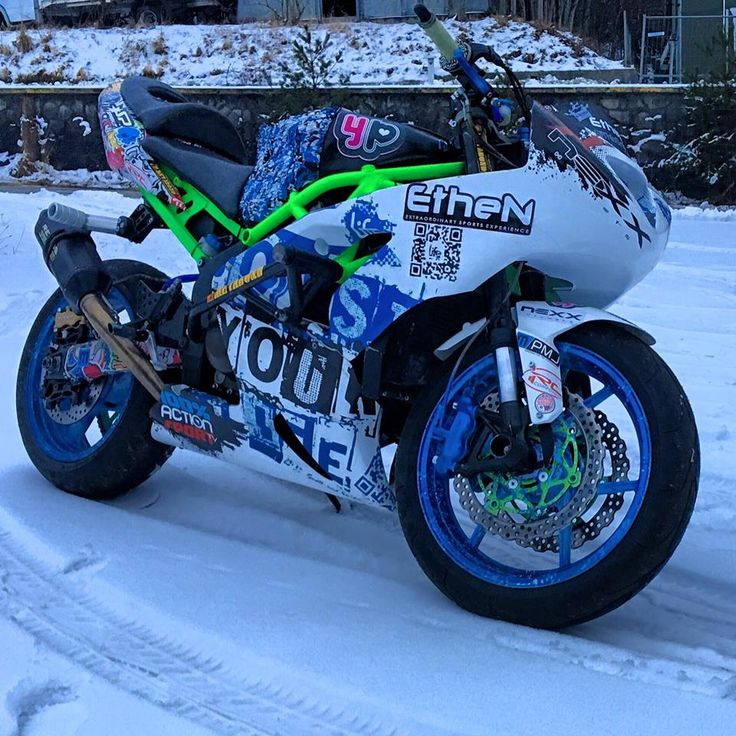 Kawasaki Ninja 636 Stunt snow