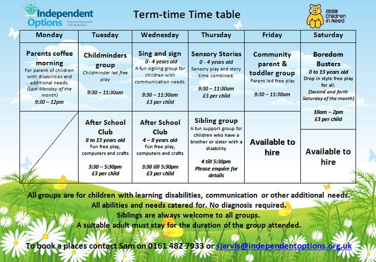 Term time activities at Independent Options #charity #Stockport